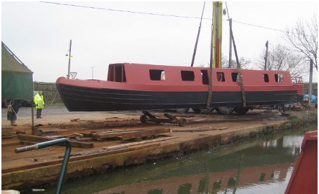 Replica hull of Narrowboat