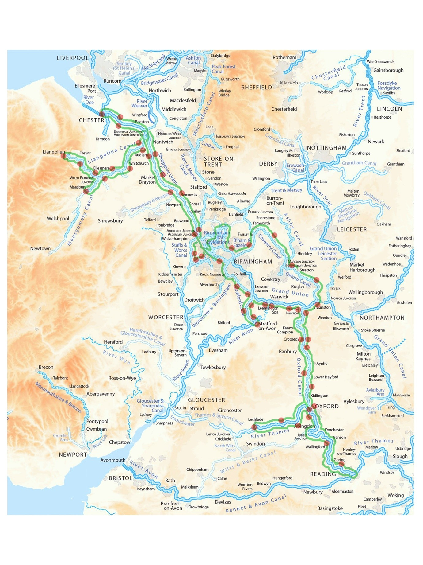 Map with our Route